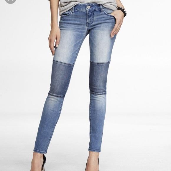 Express Denim - Express Stella Knee Patch Legging Jean Sz 0